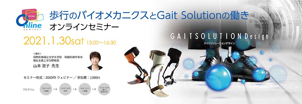 山本澄子教授ご講演セミナー「歩行のバイオメカニクスとGait Solutionの働き」